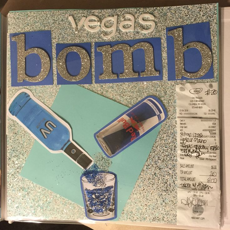 Gretch's Shot Book Vegas Bomb Page #shotbook
