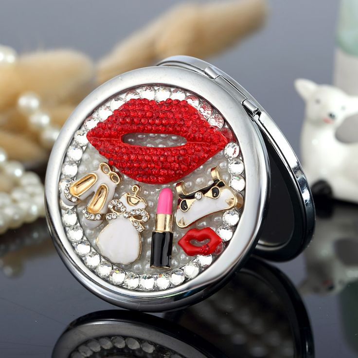 Find More Makeup Mirrors Information about Engrave words free,bling rhinestone sexy lip handbag shoes,Mini Beauty pocket makeup compact mirror,wedding party souvenir gifts,High Quality party you,China gift party Suppliers, Cheap party gift bags wholesale from YOYO fashion accessories store on Aliexpress.com