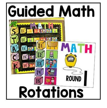 This guided math rotation board will keep you and your students organized and on track for your math block every day, perfect for kindergarten, first, or second grade math centers!