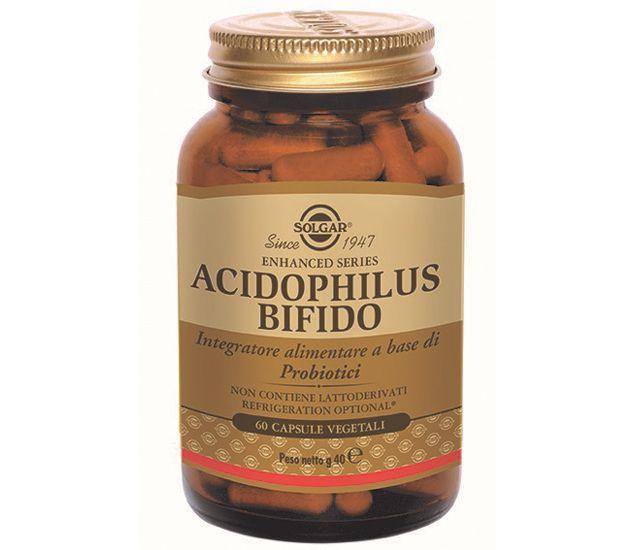 Acidophlius bifido è un integratore alimentare contenente ceppi probiotici (Lactobacillus acidophilus LA-5® e Bifidobacterium lactis BB-12®) utile per favorire l'equilibrio della flora intestinale.In particolare Bifidobacterium lactis BB-12 è uno dei bifidobatteri più resistenti all'azione della...