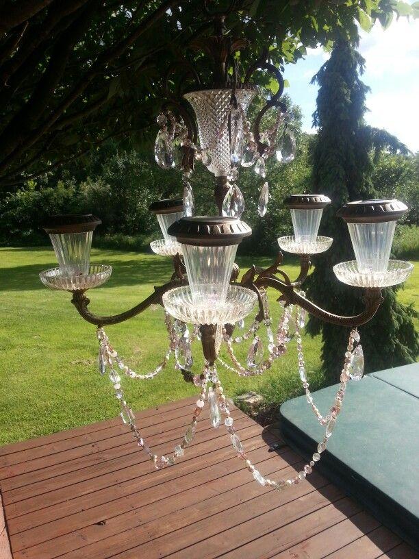 48 best things i 39 ve made images on pinterest country for Solar light chandelier diy