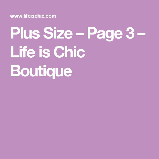 Plus Size – Page 3 – Life is Chic Boutique