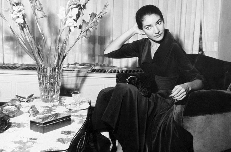 Maria callas at home in milan italy 1957 maria callas - Casta diva vintage ...