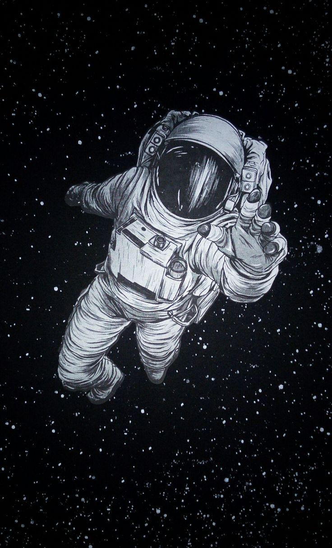 break dancing astronaut drawing - 736×1214