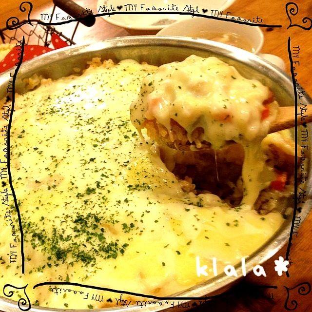 フライパンdeとろ〜りチーズの塩麹豆乳ホワイトソースドリア☆ by klala at 2012-11-9