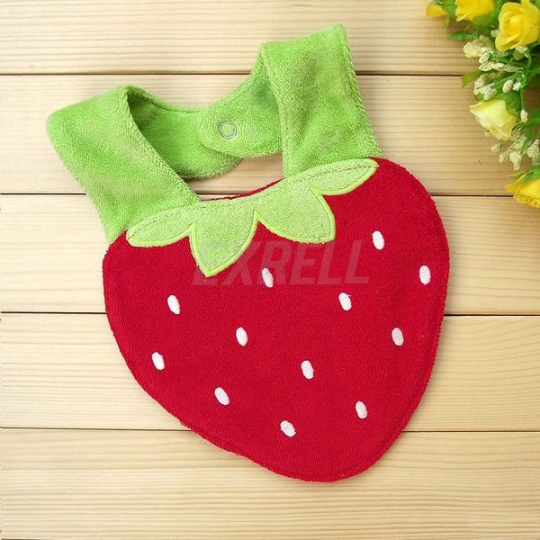 Cute Cartoon Strawberry Stylish Cotton Boy Girl Baby Saliva Towels Infant Bibs #UnbrandGeneric