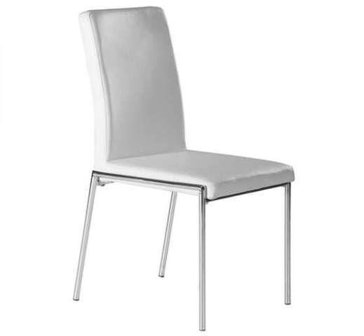 Silla tapizada blanca# silla comedor# www. superdeco. es