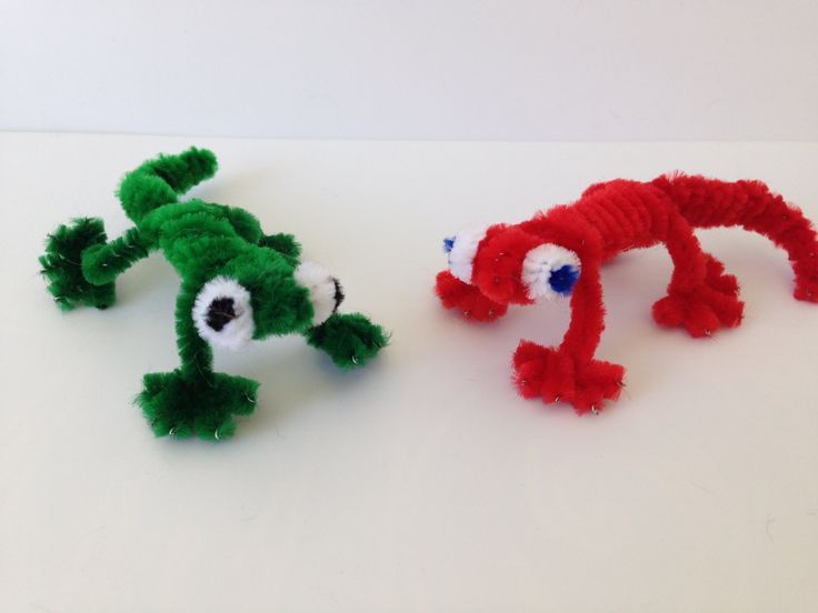 How to make a Pipe Cleaner Lizard | PIPE | Pinterest ...