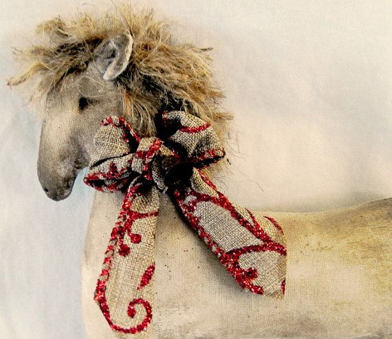 Christmas decoration Primitive Christmas Horse by TheChristmasDen