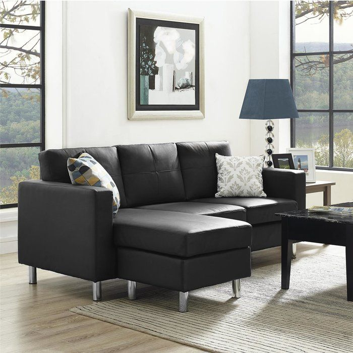Emanuel Reversible Sectional Sofas For Small Spaces Small Space