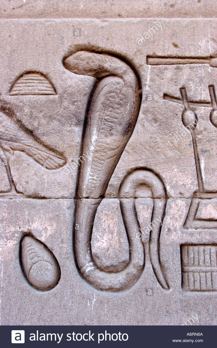 Temple of Denderah, Queen Cleopatra: human figures and hieroglyphics carved in the stone: