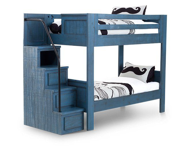 Top 25 best bunk beds with stairs ideas on pinterest for Bunk bed and bang