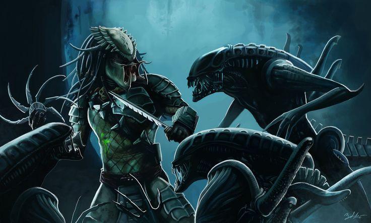 Aliens vs. Predator by MightyGodOfThunder.deviantart.com on @deviantART