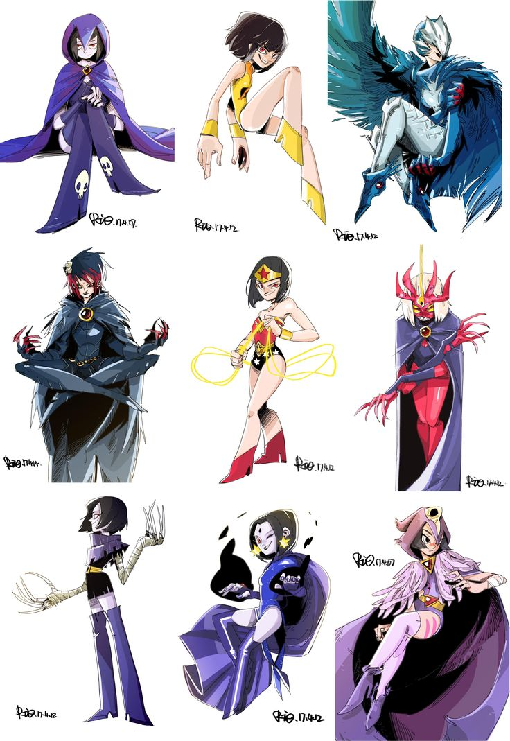 The Many Faces Of Raven  Comicmanga Stuff  Teen Titans -4031