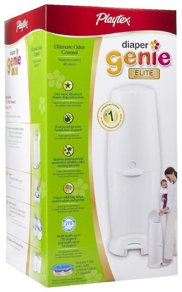 Diaper Genie - this is a MUST have if you want to keep odor down. I like the new ones with the step can... wish I had that. Target usually has the cheapest.