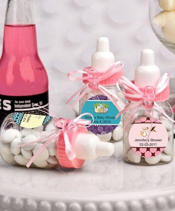 Pink Bottles for Baby Shower Favor Decorations 24 pc