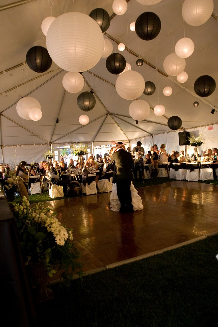 Black and White Wedding Lanterns