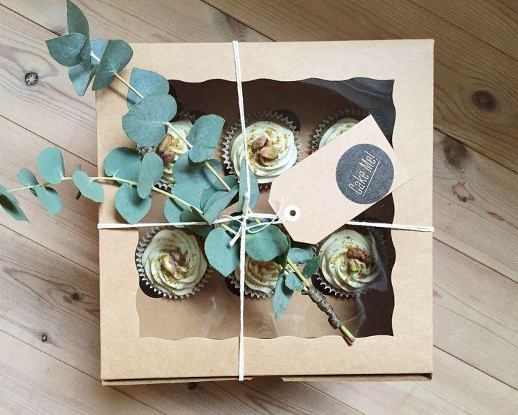 Pistachio Cupcake Box  Made by Cake Me! Oslo www.facebook.com/cakemeoslo