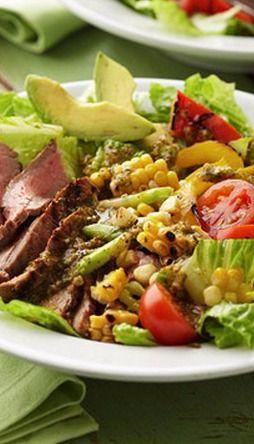 Grilled Marinated Flank Steak Salad | Diabetic Living Online