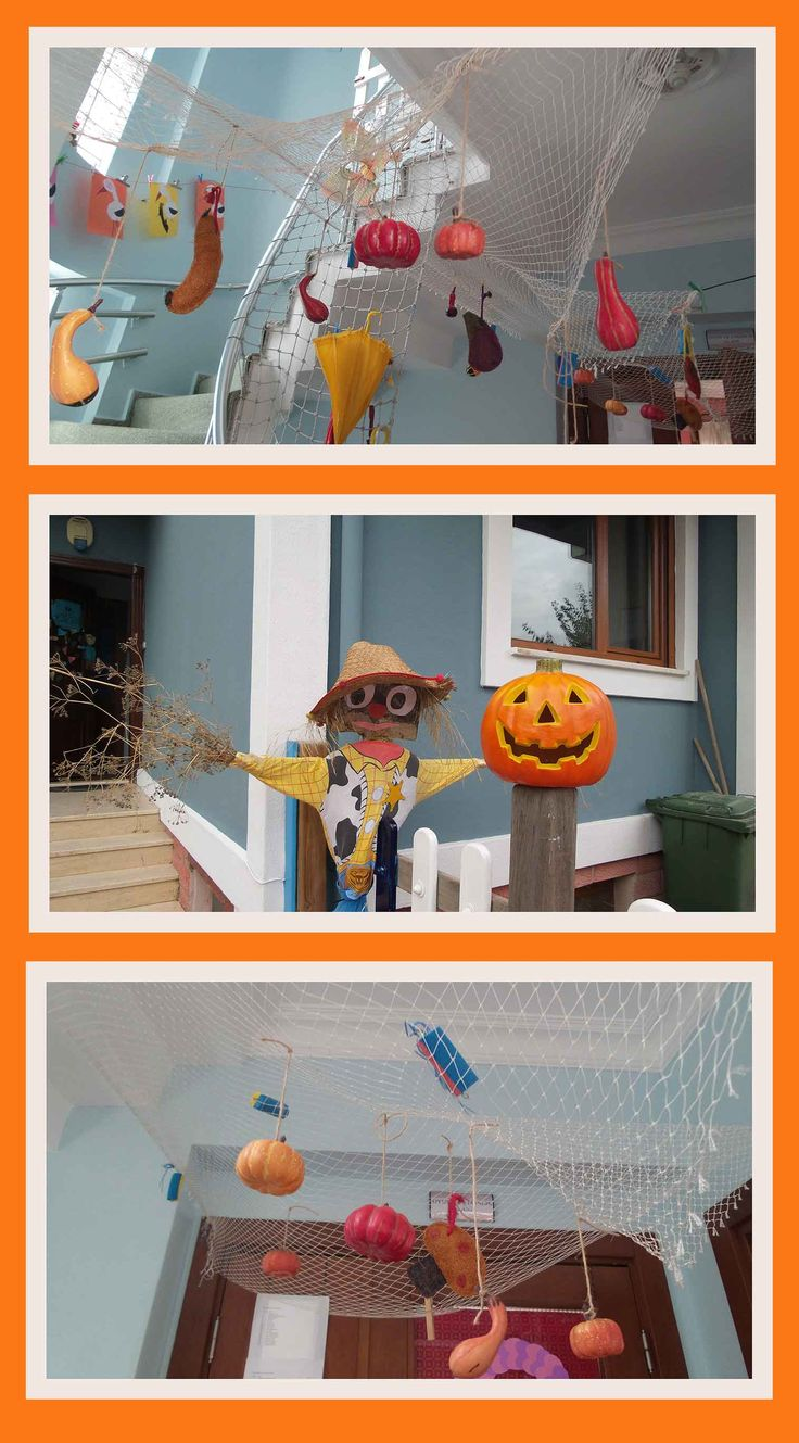 Sonbahar süslemeleri. Preschool fall decoration.