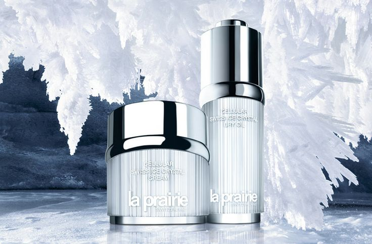La Prairie Swiss Ice Crystal skincare collection.