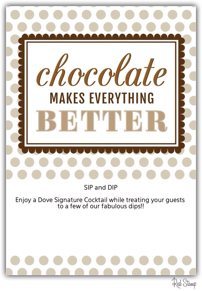 Sip and Dip Dove Chocolate Discoveries Party-www.mydcdsite.com/brendazambroski
