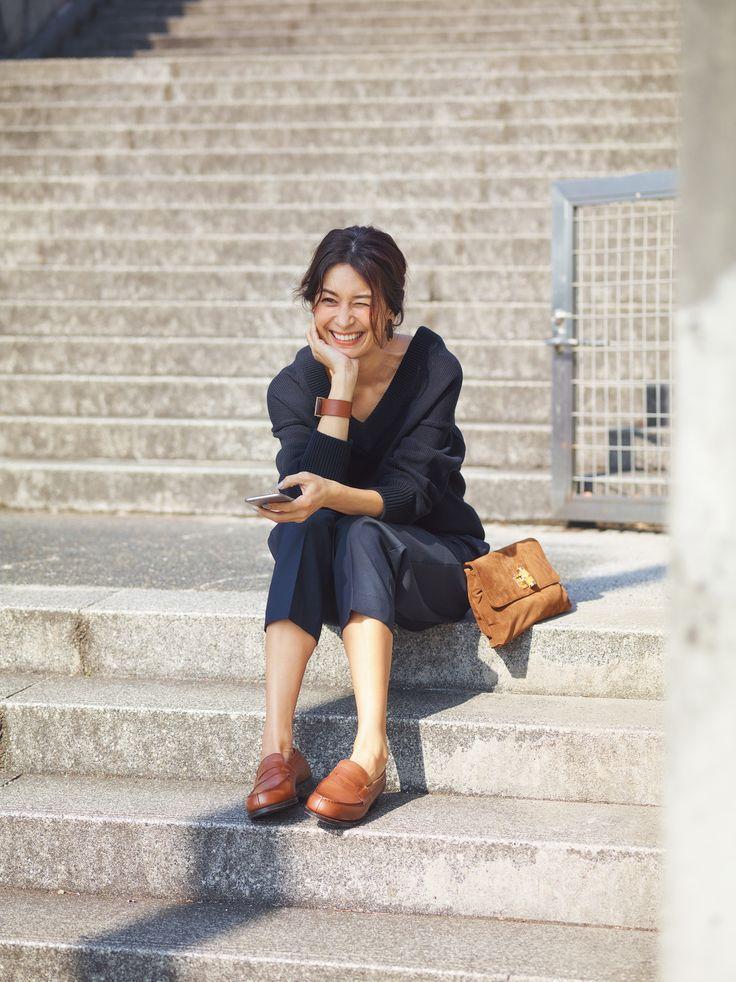 アラフォーの理想は「フラット靴でもきれいめコーデ」Marisol ONLINE|女っぷり上々!40代をもっとキレイに。