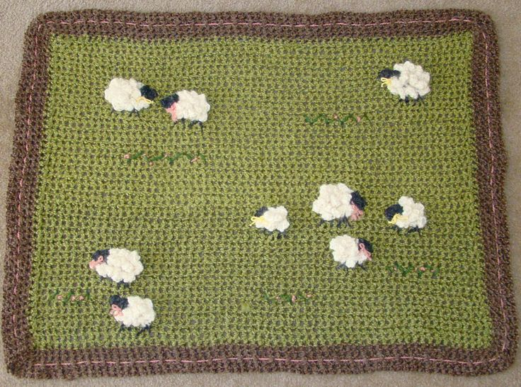 sheep baby blanket $65