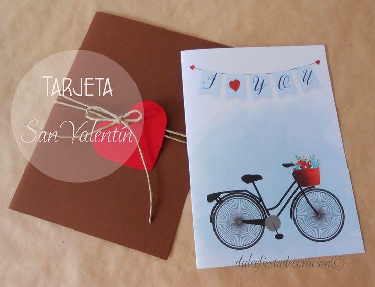 Dulce Fiesta Decoración: Tarjeta DIY para San Valentín