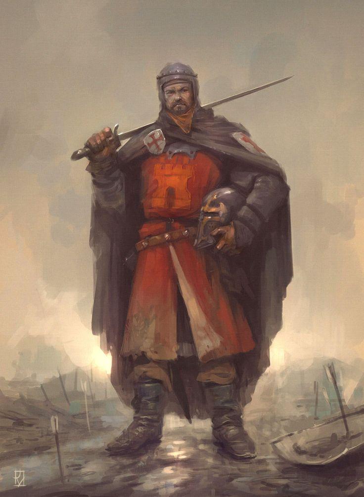 Spanish Medieval Knight  (1060 anno Domini), Jaime Martinez on ArtStation at https://www.artstation.com/artwork/EO14N?utm_campaign=digest&utm_medium=email&utm_source=email_digest_mailer