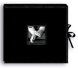 Pioneer - 12x12 Sewn Scrapbook Box - Stitched - Black at Scrapbook.com $27.54: Sewn Scrapbook, Scrapbook Com, Gifts Ideas, Af Pioneer, Scrapbook Boxes, Boxes Measuring, Flower Embellishments, Products Ideas, 12X12 Sewn