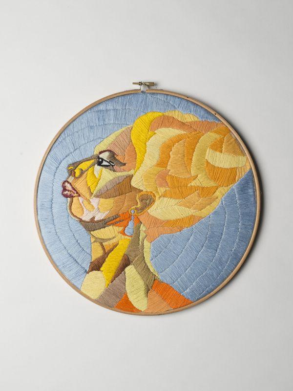 Luisa Zilio - Nina Simone - Hand Embroidery