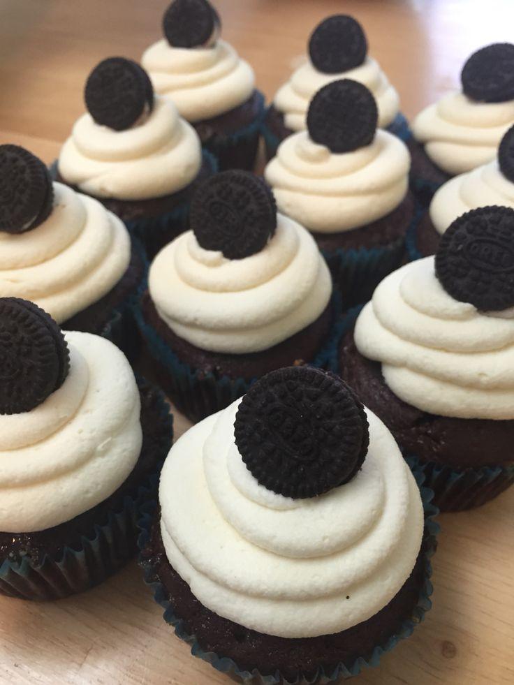 Cookies and Cream Cupcakes! Daniel's 8th birthday.