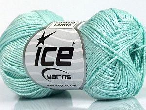 Camilla Cotton Light Mint Green  Fiber Content 100% Mercerised Cotton, Light Mint Green, Brand Ice Yarns, fnt2-53796