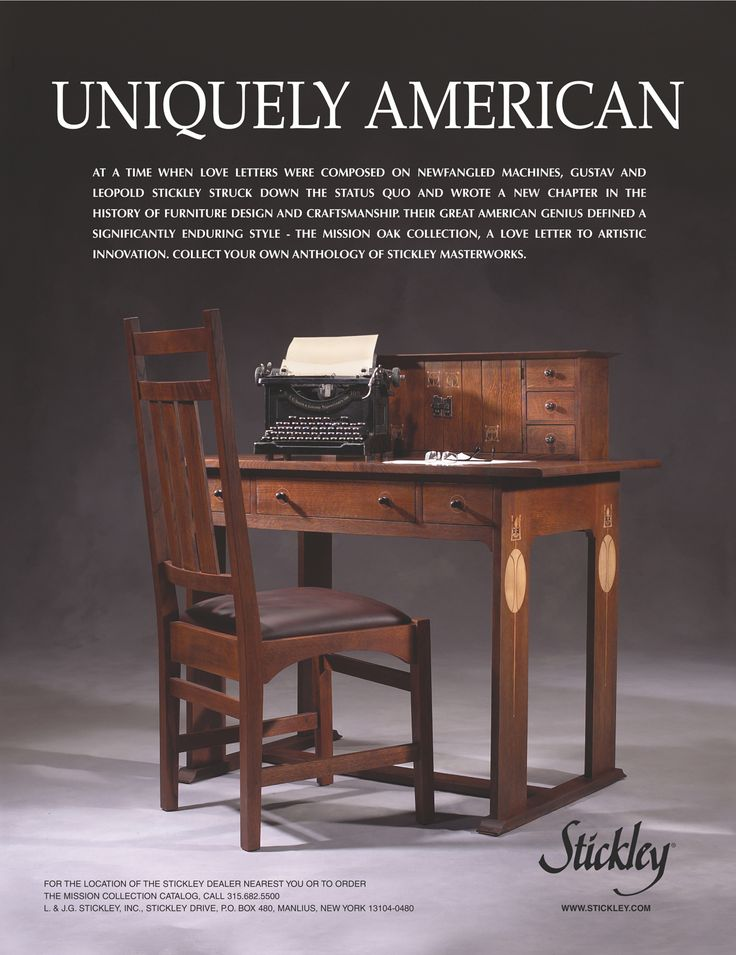 Superb Vintage Stickley Furniture Advertisement  Uniquely American Awesome Ideas