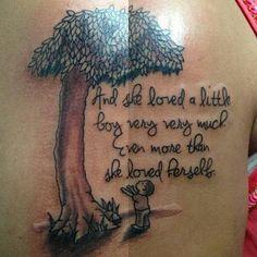 giving tree tattoo... I love it!!!