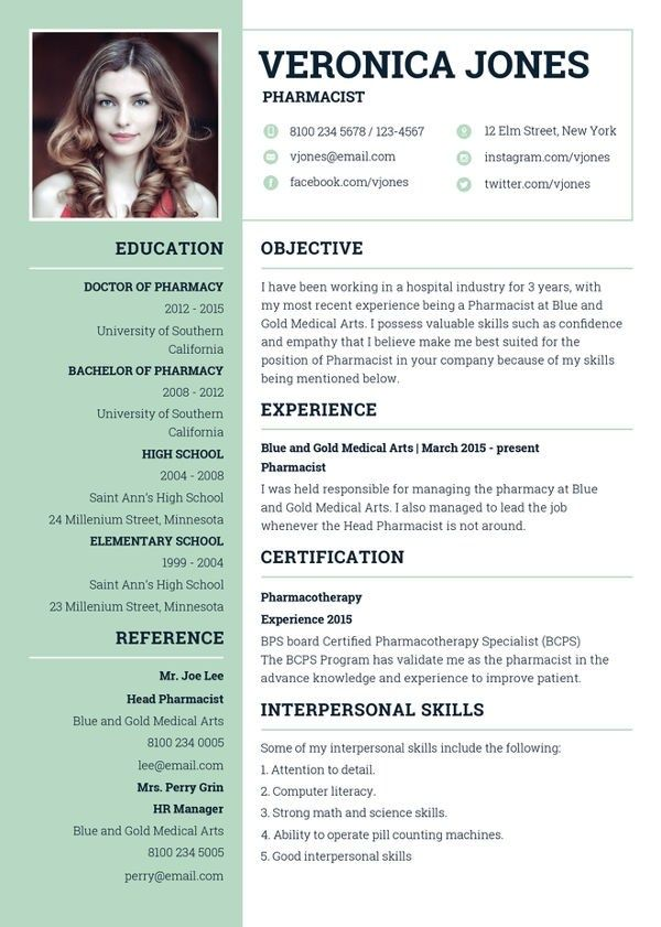 7 Pharmacist Curriculum Vitae Templates Free Word Pdf In 2020 Sample Resume Templates Resume Template Professional Curriculum Vitae Template