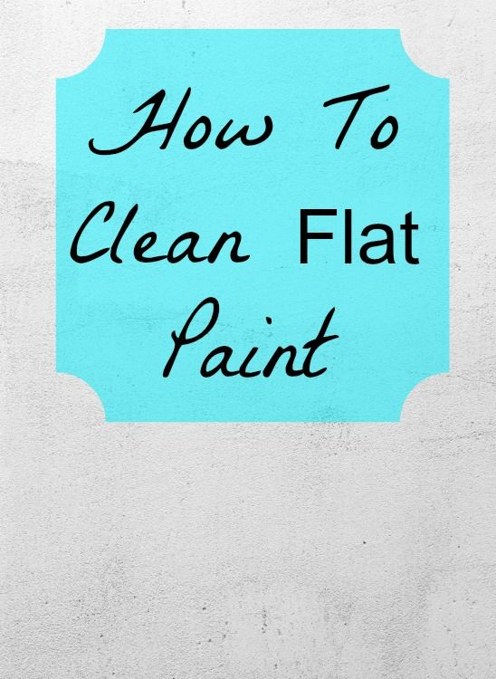 How to clean flat paint - I have a quick question about washing my apartment walls. I desperately need to get my security deposit back, and they look nasty.