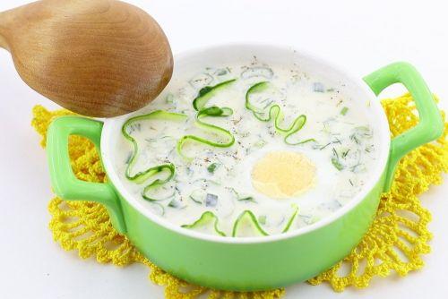 Летний суп с огурцом и брынзой (на ряженке)