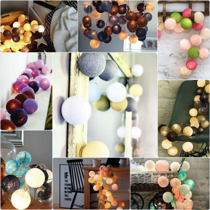 20pcs/sets thai style Cotton Ball String Lights Fairy ,wedding xmas, Christmas Patio Decor 110 220V US/EU/AU/UK plug-in Novelty Lighting from Lights & Lighting on Aliexpress.com | Alibaba Group