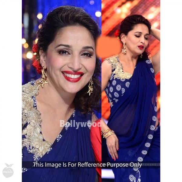 Dark Blue Madhuri Dixit's Embroidered