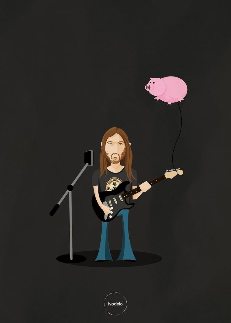 David © ivodelo_ivan de lorenzo - 2013 www.facebook.com/i.like.ivodelo  #david gilmour, #pink floyd, #stratocaster, #guitar, #dark side of the moon