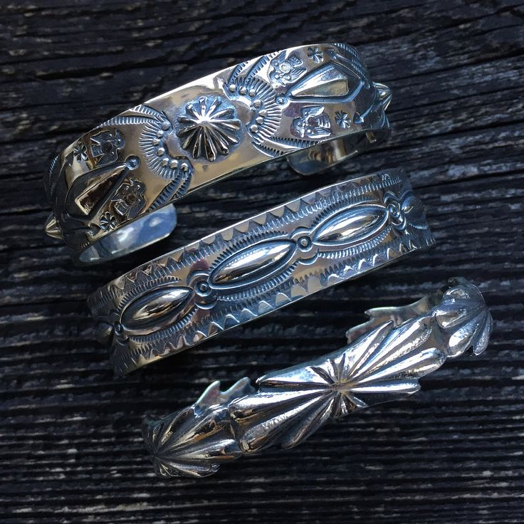 Larry Smith Silver Bracelets. (made in japan, craftsmanship, concho, thunderbird)