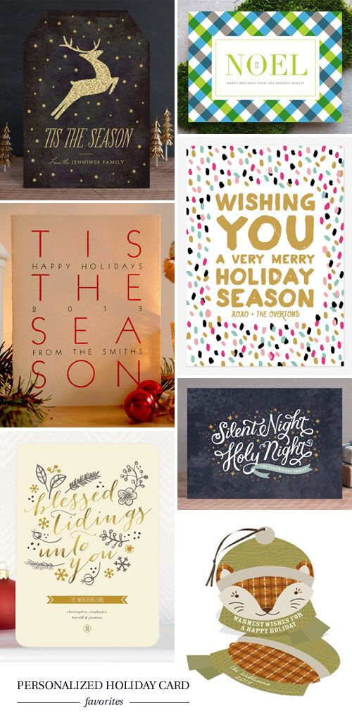 Personalized Holiday Card Favorites as seen on