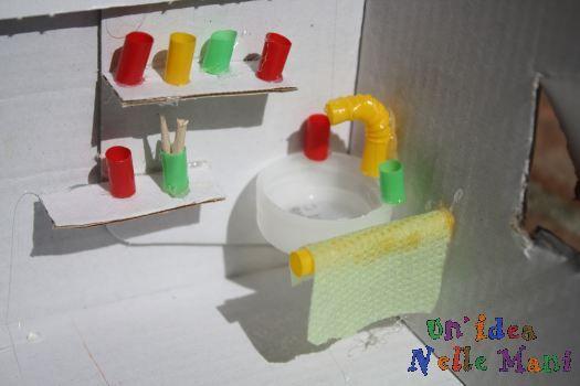 Oltre 25 fantastiche idee su case di bambole su pinterest casa delle bambole in stile - Bagno in miniatura ...