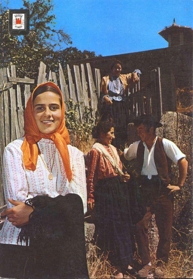 BEIRA ALTA. Portugal. Trajes regionais. Rancho folclórico de Torredeita, Viseu