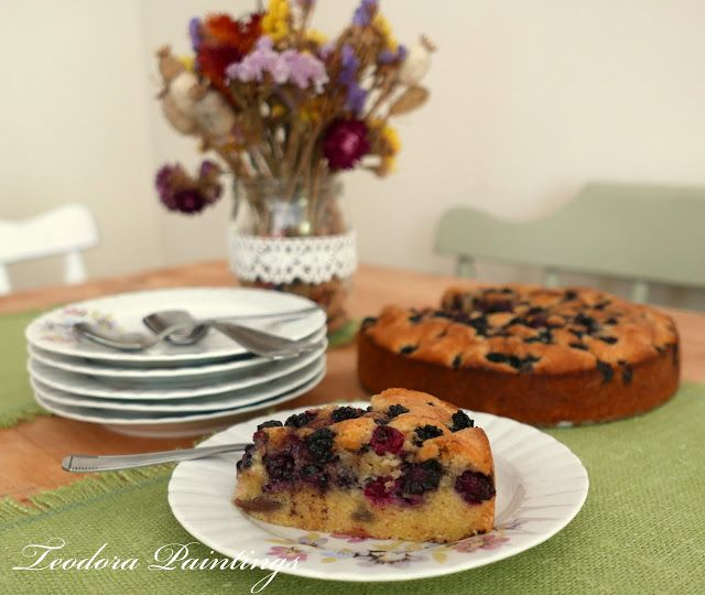 Teodora Paintings: Foraging blackberries for a delicious cake