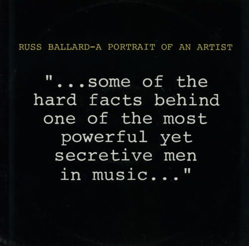 """For Sale - Russ Ballard A Portrait Of An Artist UK Promo  12"""" vinyl single (12 inch record / Maxi-single) - See this and 250,000 other rare & vintage vinyl records, singles, LPs & CDs at http://eil.com"""