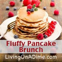 These fluffy pancakes are just like the restaurant. Make this easy recipe in just 15 minutes at home for just $1.00!