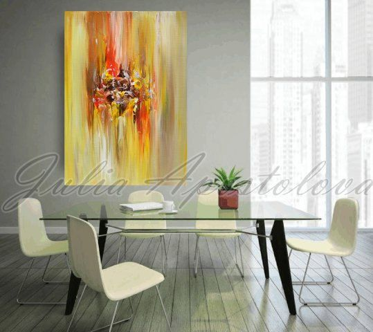 #Abstract #Art #Print on Canvas of Original Abstract Landscape Series Paintings by Julia Apostolova THIS PRINT COMES UNSTRETCHED OR STRETCHED, will came to your home at protec... #art #painting #print #abstract #watercolor